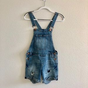 STS Blue Distressed Short Overalls (Stinson)